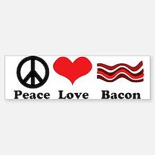 Peace, Love and Bacon Bumper Bumper Bumper Sticker