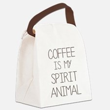 Coffe Is My Spirit Animal Canvas Lunch Bag
