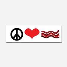 Peace Love and Bacon Car Magnet 10 x 3
