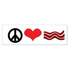 Peace Love and Bacon Bumper Bumper Sticker