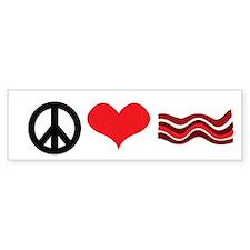 Peace Love and Bacon Bumper Bumper Sticker