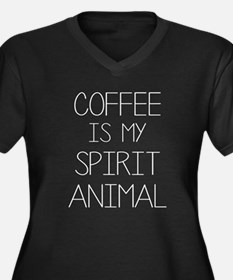 Coffe Is My Spirit Animal Plus Size T-Shirt