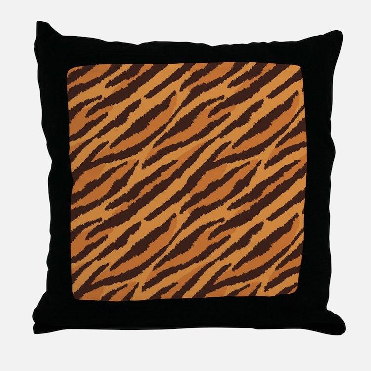 Tiger Fur Throw Pillow