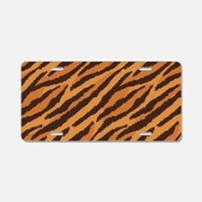 Tiger Fur Aluminum License Plate