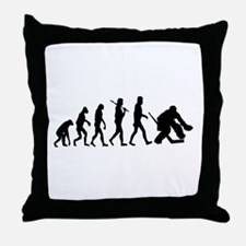 Hockey Goalie Evolution Throw Pillow