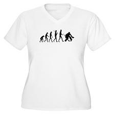 Hockey Goalie Evolution Plus Size T-Shirt
