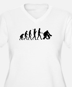 Hockey Goalie Evolution Plus Size T-Shirt