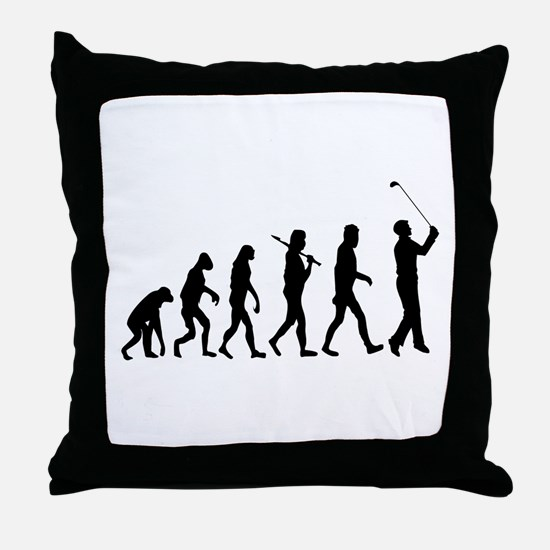 Golf Evolution Throw Pillow