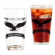 Birthday Born 1995 Free Spirit Drinking Glass