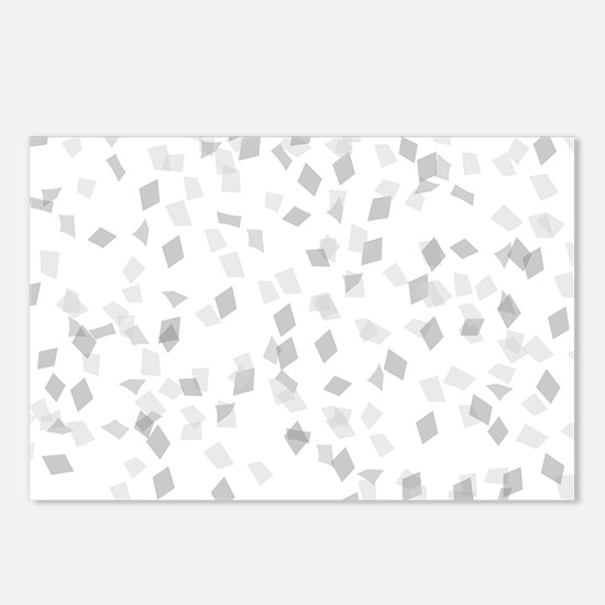 Grey Confetti Postcards (Package of 8)