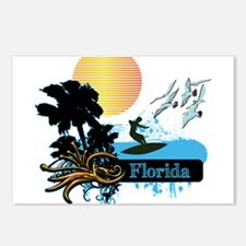 Sun Surf and Palms Tropic Postcards (Package of 8)
