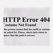 HTTP Error 404 Costume Not Found Thi Throw Blanket