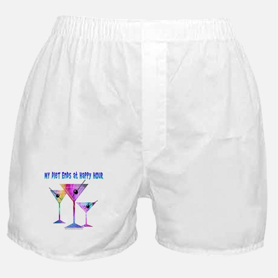 My DIET ENDS at Happy Hour! Boxer Shorts