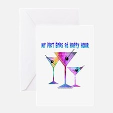 My DIET ENDS at Happy Hour! Greeting Cards