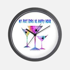 My DIET ENDS at Happy Hour! Wall Clock