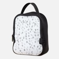 Grey Confetti Neoprene Lunch Bag