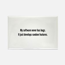 Random Features Rectangle Magnet (100 pack)