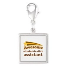 Awesome Administrative Assist Silver Square Charm