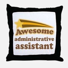 Awesome Administrative Assistant Throw Pillow