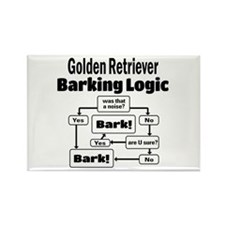 Cute Dog lover designs golden retriever Rectangle Magnet