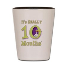 10 Months with Stork Shot Glass