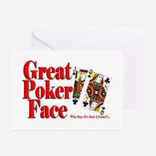 Great Poker Face Greeting Cards (Pk of 10)