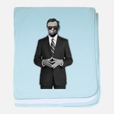 Lincoln Serious Business baby blanket