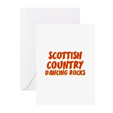Scottish Country Dancing Rock Greeting Cards (Pk o
