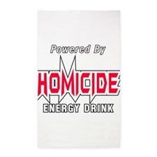Homicide Energy Drink Area Rug