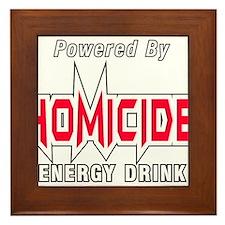 Homicide Energy Drink Framed Tile