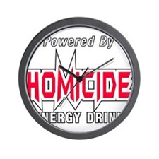 Homicide Energy Drink Wall Clock