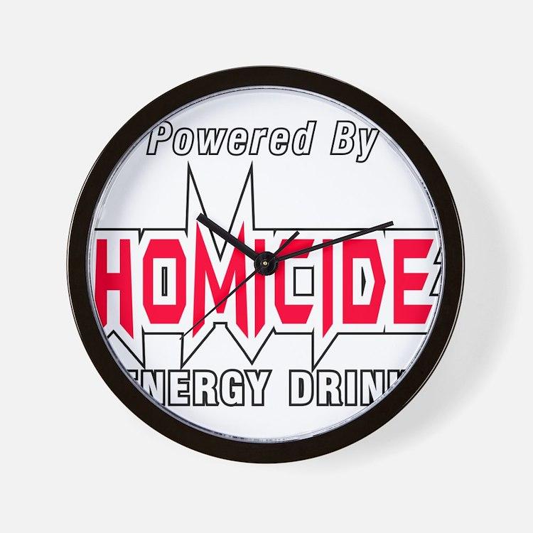 Homicide Energy Drink Wall Clock