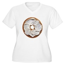 Bagel with Cream Cheese Plus Size T-Shirt