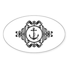Anchor Crest Oval Decal