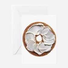 Bagel with Cream Cheese Greeting Cards