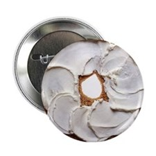 "Bagel with Cream Cheese 2.25"" Button (10 pack)"