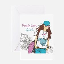 Fashion Girl Greeting Cards