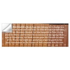 Librarians Curse Wall Decal