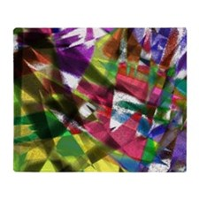 Colorful Papers Throw Blanket