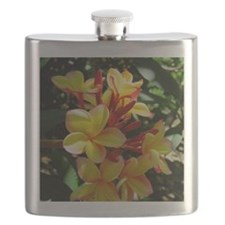Hawaiian Plumeria Flask