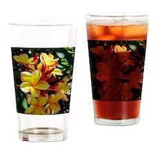 Hawaiian Plumeria Drinking Glass