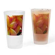 Hawaiian Plumeria Drinking Glass