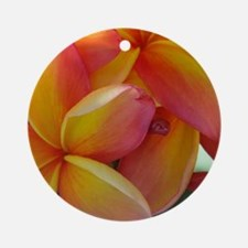 Hawaiian Plumeria Round Ornament