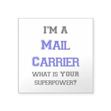"mail carrier Square Sticker 3"" x 3"""