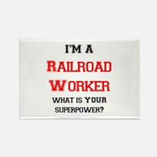 railroad worker Rectangle Magnet