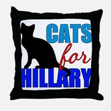Cats for Hillary Throw Pillow