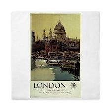 london vintage travel Queen Duvet