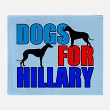 Dogs for Hillary Throw Blanket