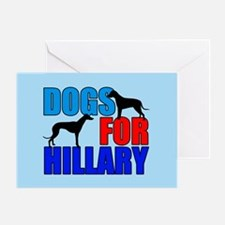 Dogs for Hillary Greeting Card