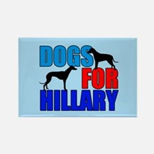 Dogs for Hillary Rectangle Magnet